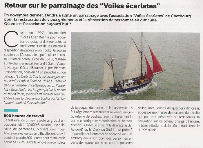 Extrait du journal de l'Andra n° 20 printemps 2015 Edition Manche