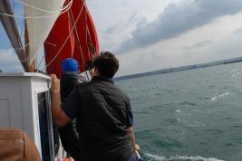 les jeunes apprécient d'être à bord