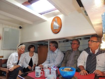 Les sociétaires BPO à bord