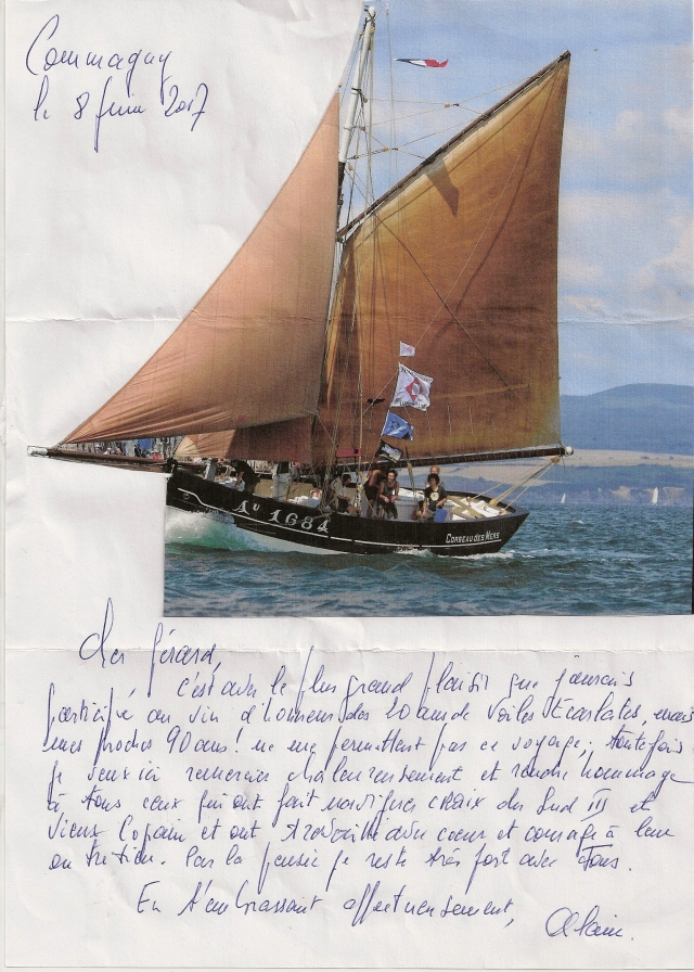 Lettre Alain Boutry