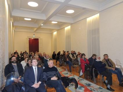 l'auditoire a assisté à la projection du film de Corentin Pichon