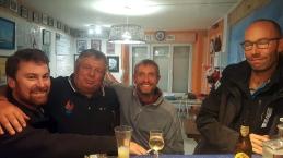 Avec Benjamin et l'équipage du Français au local